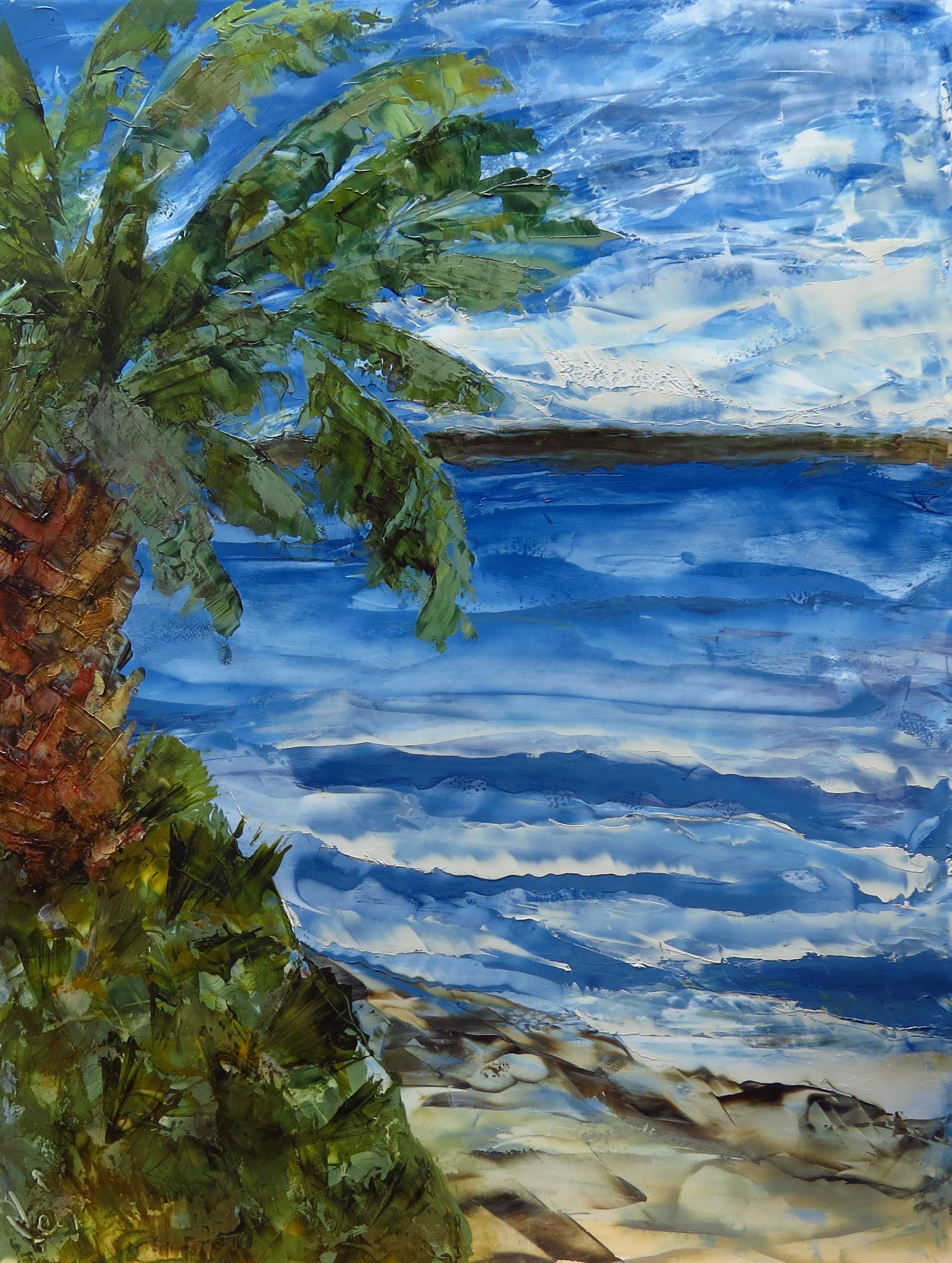 """Light Breeze"", oil on yupo, 9x12"