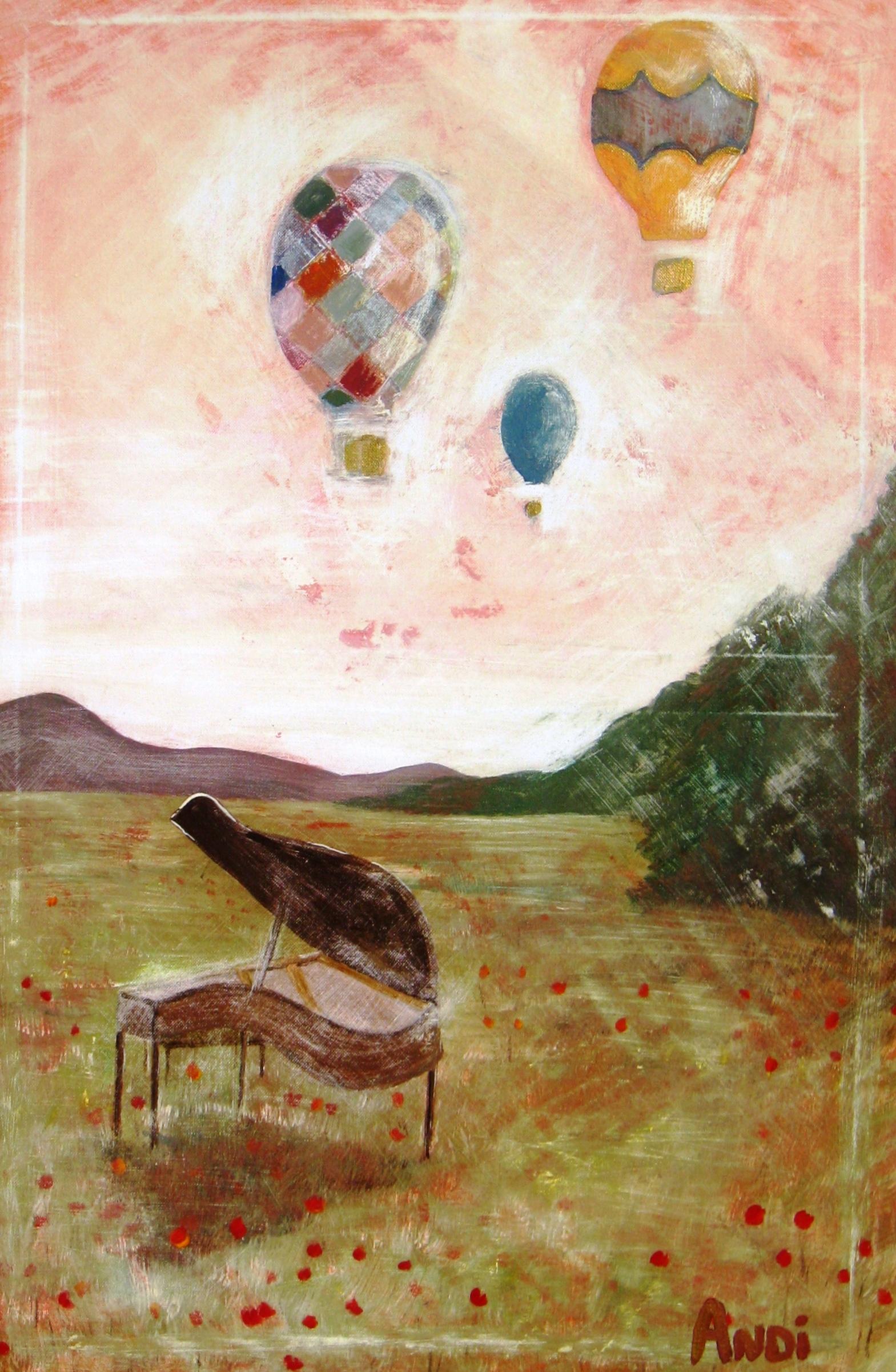 Piano and Balloons