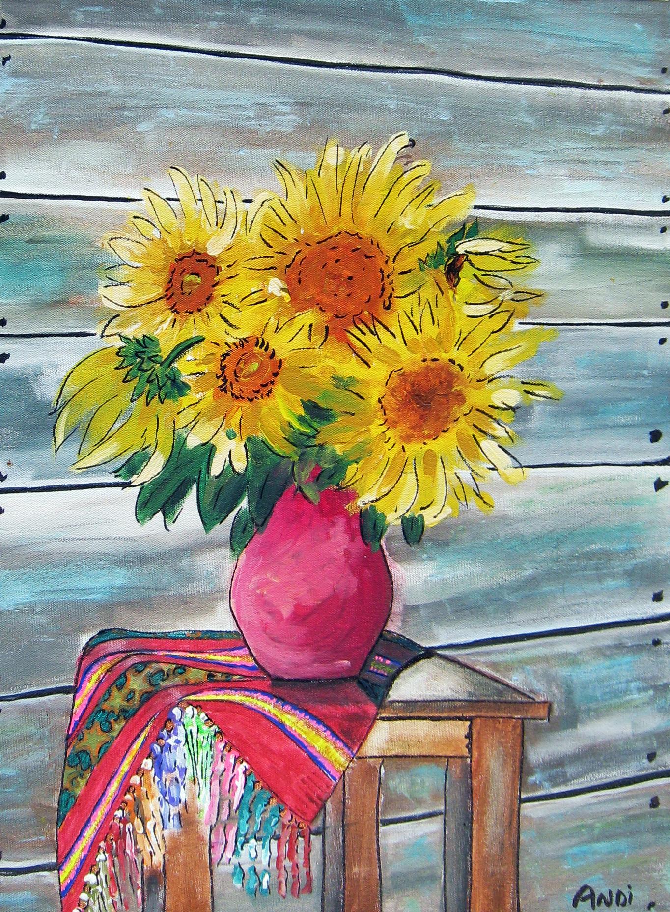Sunflowers and Serape