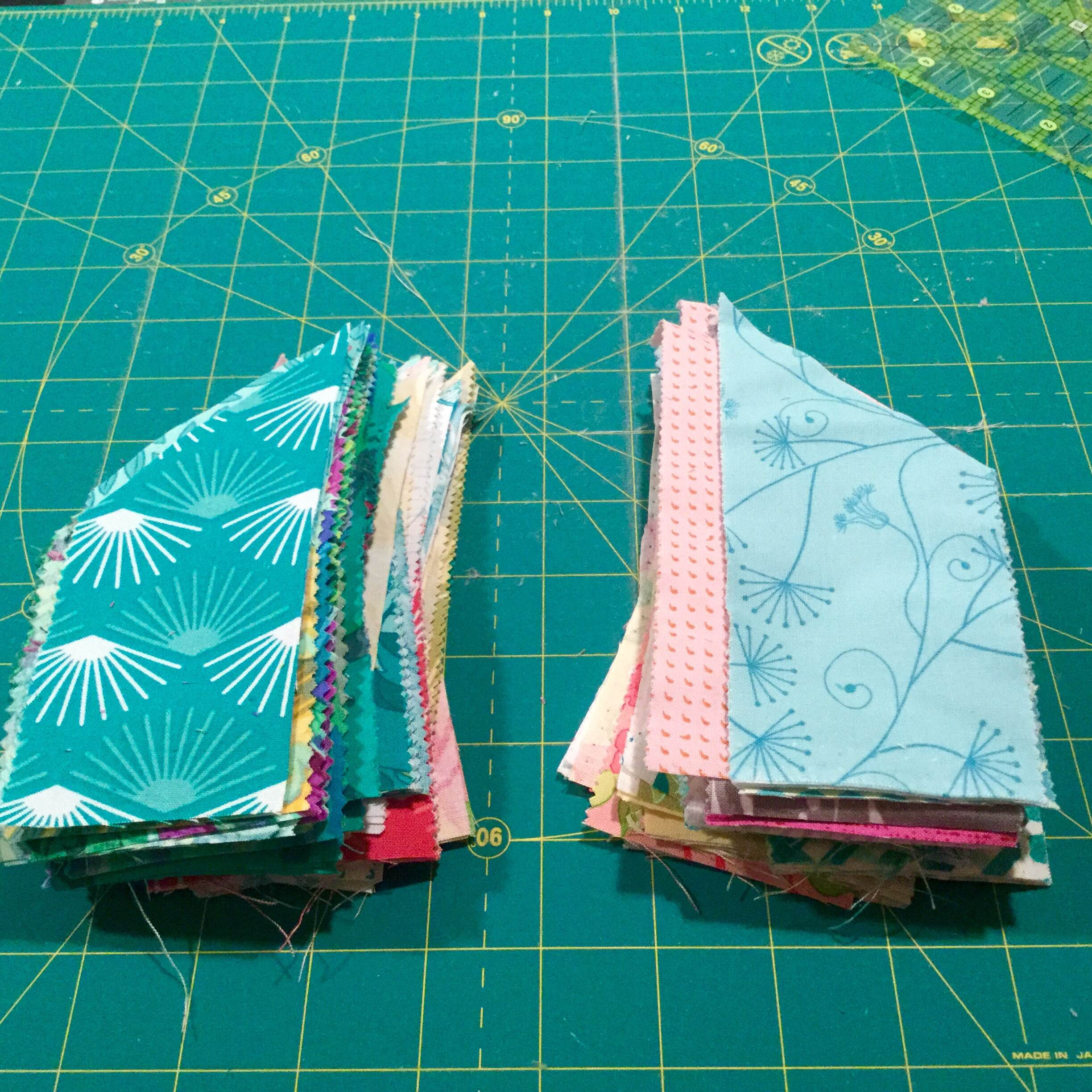 """I did not have the """"binding tool"""" referenced in the Misssouri Star Quilt Tutorial, so I winged it."""