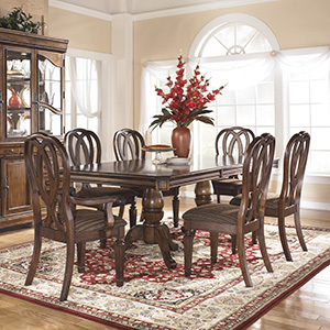 Dining Room - They say the dining room and kitchen is the heart of the room. This is the place that stories are shared and memories are made. We have a wide variety of bar stools, chairs, lighting, benches, and dining room sets to make the most out of this cherished place in the home.