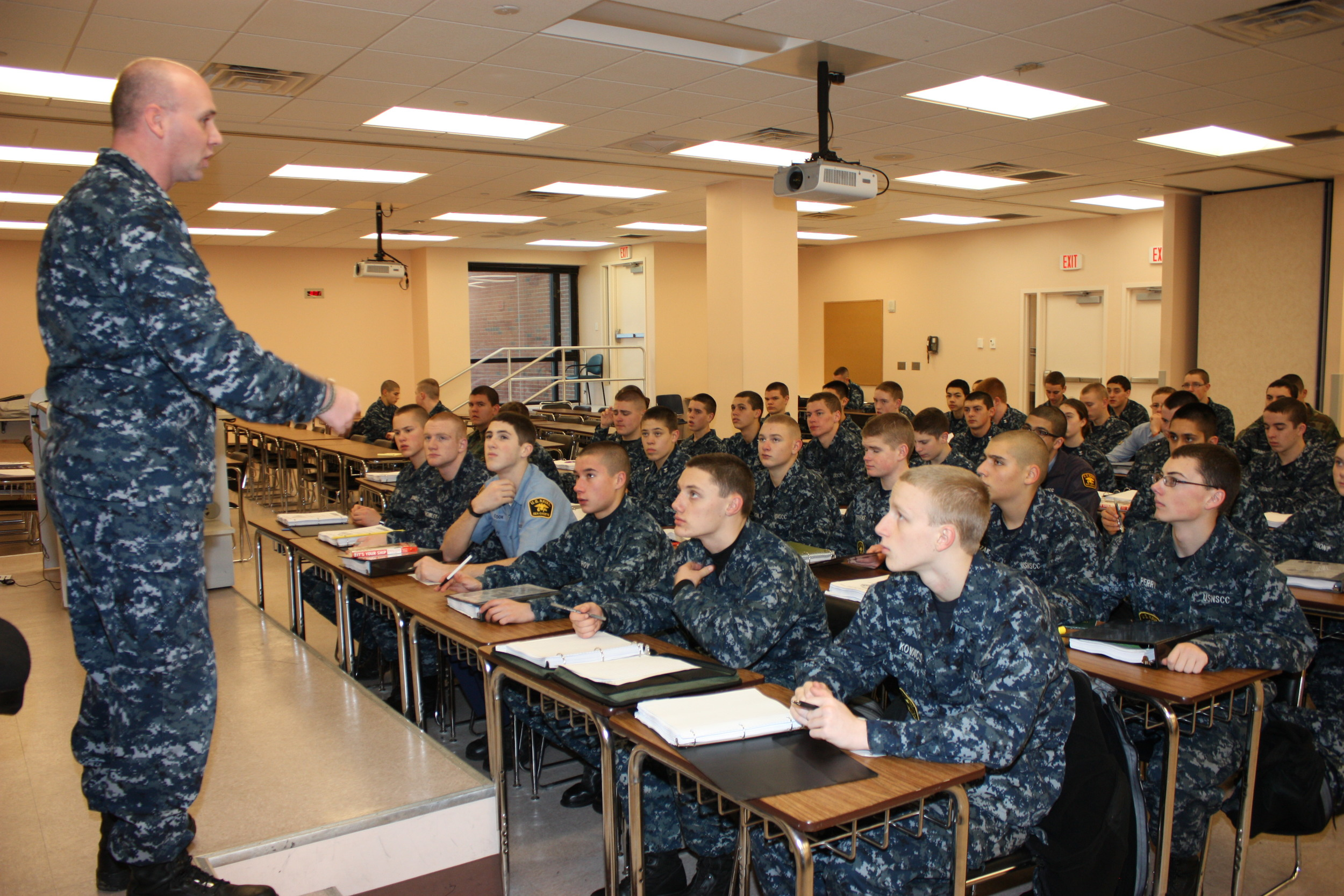 Cadets receive classroom instruction