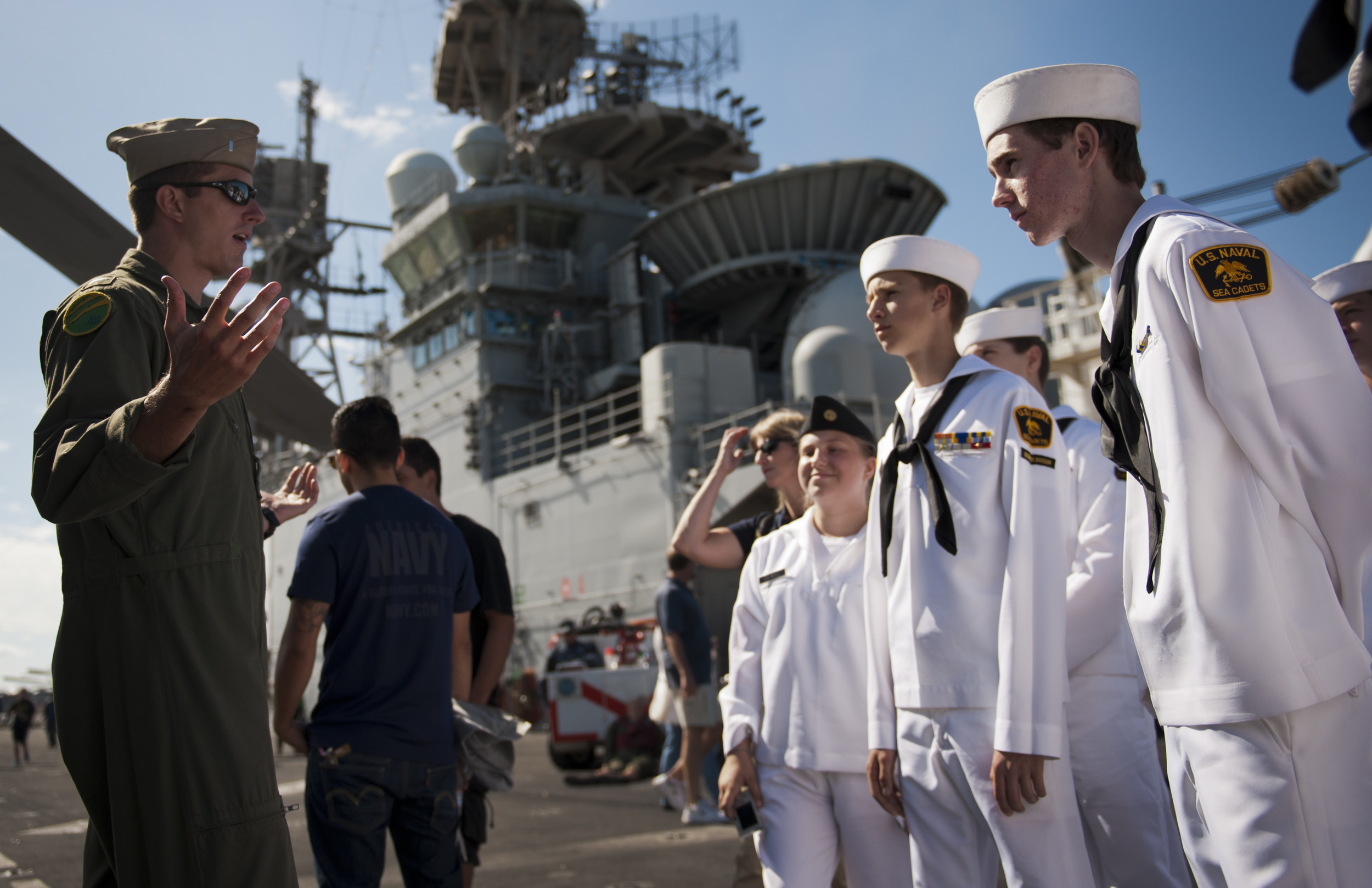 Cadets aboard USS Makin Island