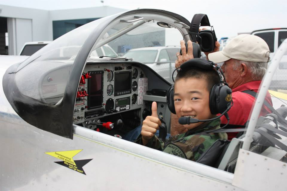 Navy League Cadet in Airplane