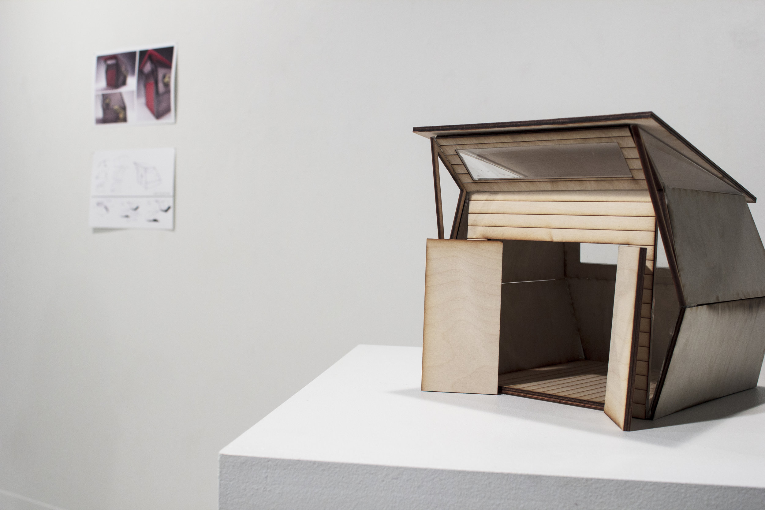 Shed, Scaled model    Maddy Afshar and collaborator Collin Adair, Industrial Designers