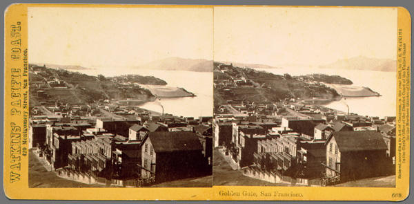 Carleton E. Watkins.  Golden Gate, San Francisco, number 669 from the Pacific Coast series , 1867.