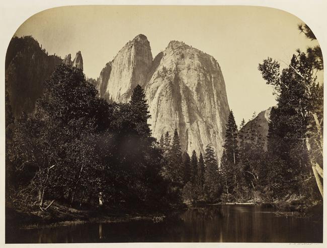 Carleton E. Watkins,  River View, Cathedral Rock, Yosemite , 1861; courtesy California Historical Society.