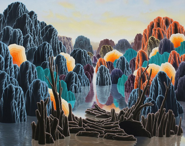 Adam Sorensen.  Repose  (detail), 2015; oil on linen, 40 x 44 inches.
