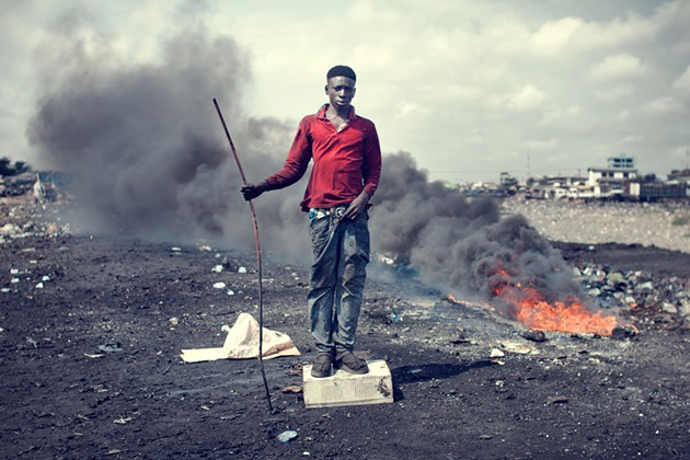 Kevin McElvaney, Agbogbloshie: John Mahama , 2013.