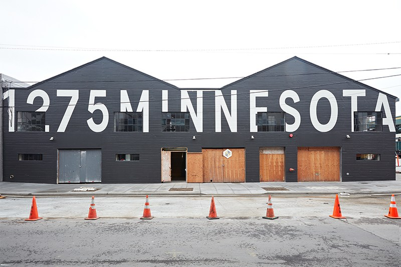 The exterior of the building housing the Minnesota Street Project's 10 gallery tenants. (Courtesy of Minnesota Street Project)
