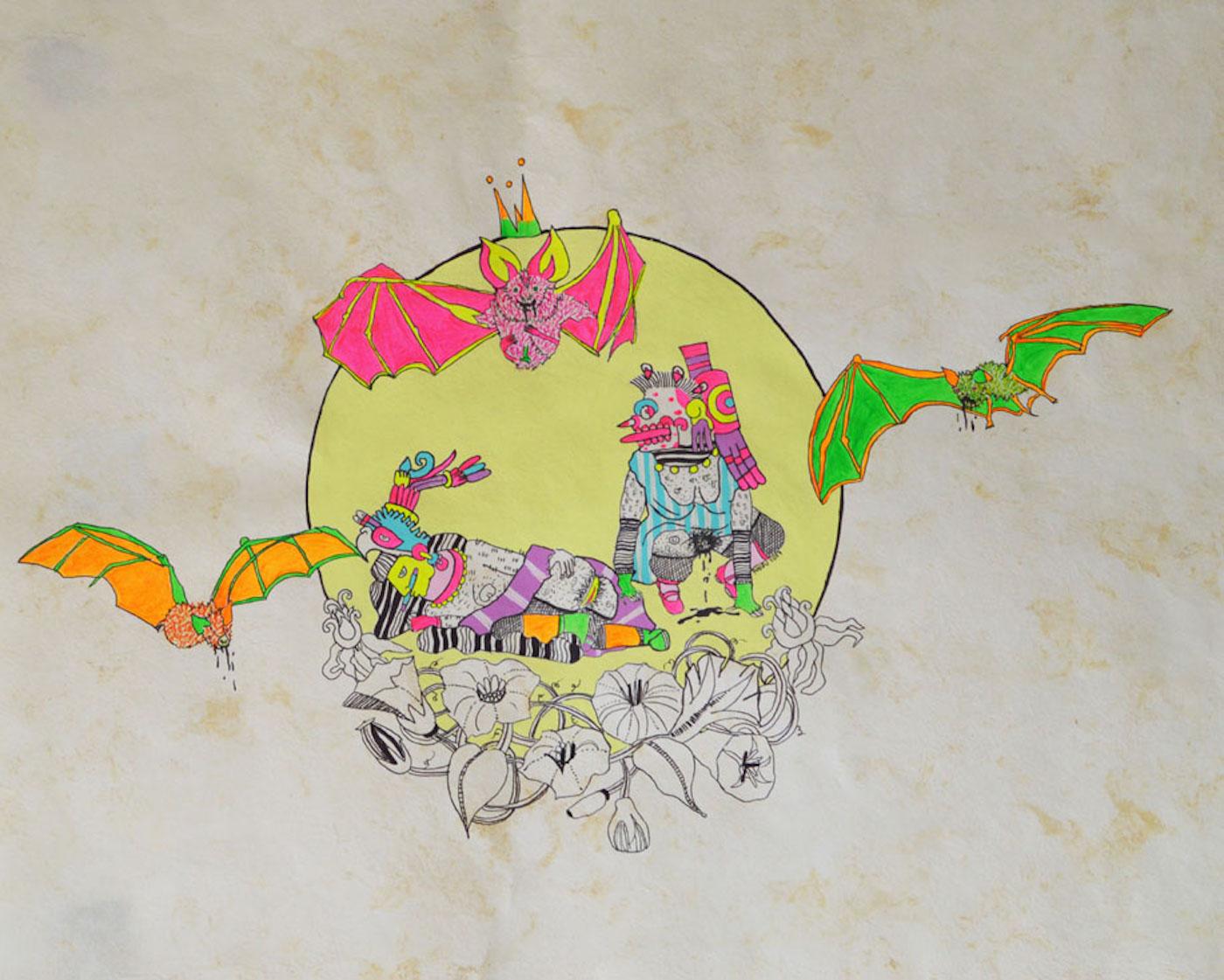 "Rurru Mipanochia, ""Zotz 1"" (2017) (image courtesy of the artist)"