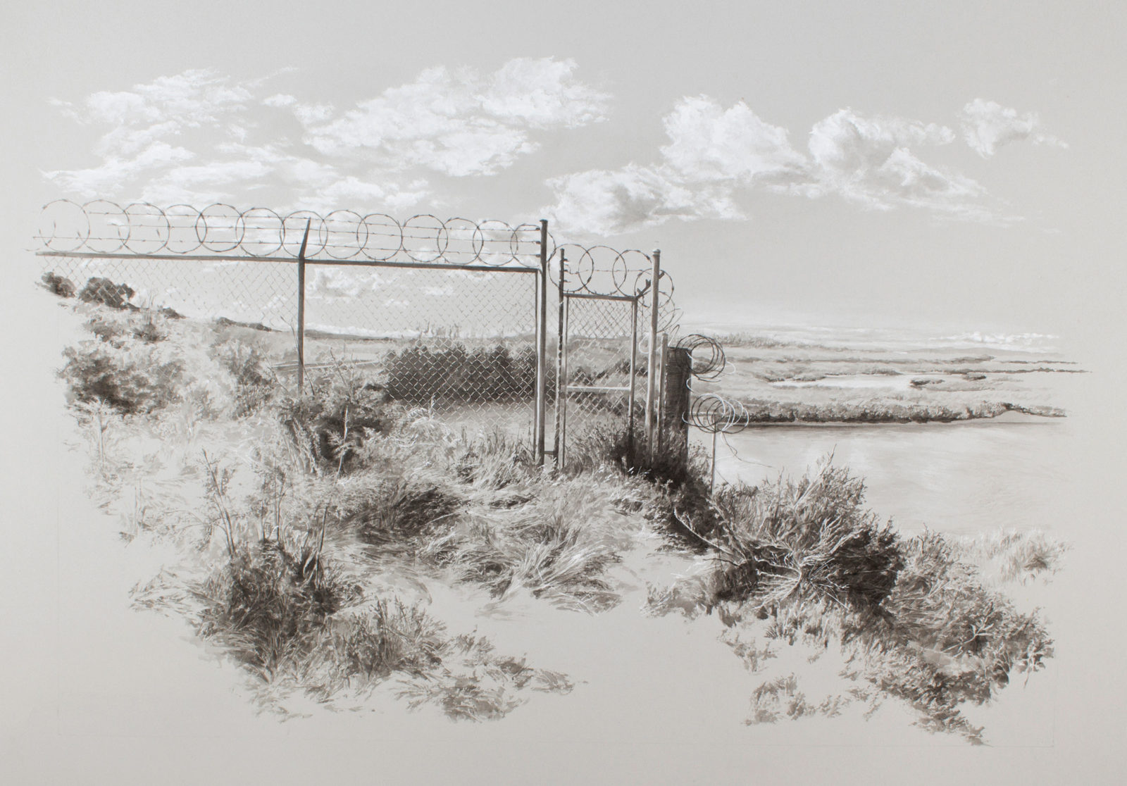 """Marsh Road,"" by artist Sarah Newton. (Courtesy of the artist)"