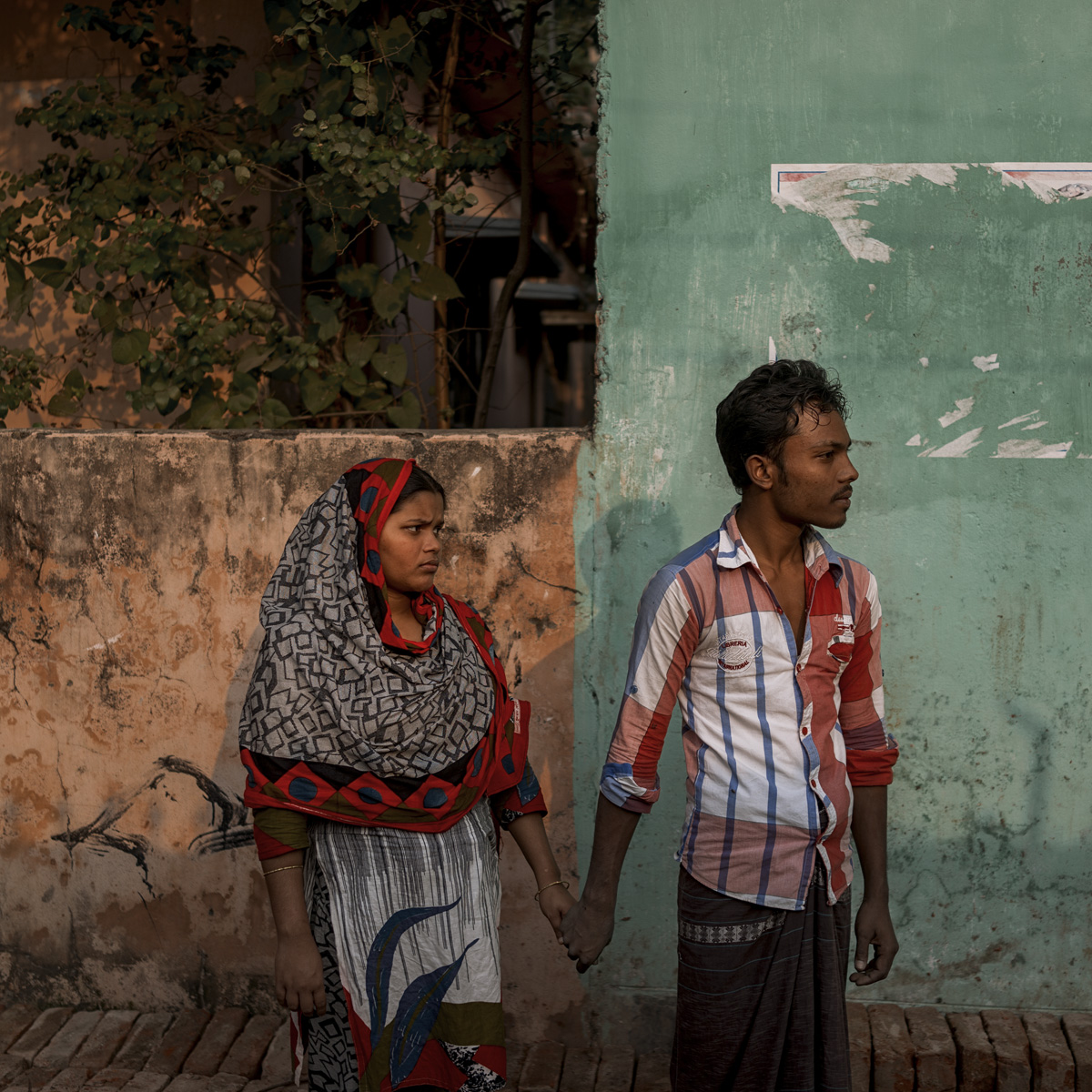 Sheuli AKhter Shila and her husband Mohammad Alamin. Sheuli was worker of Rana Plaza.