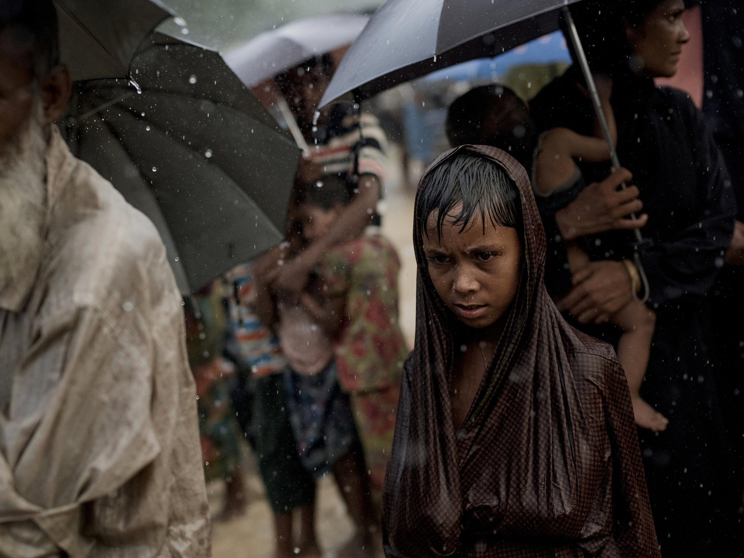 A rohingya boy in a camp.