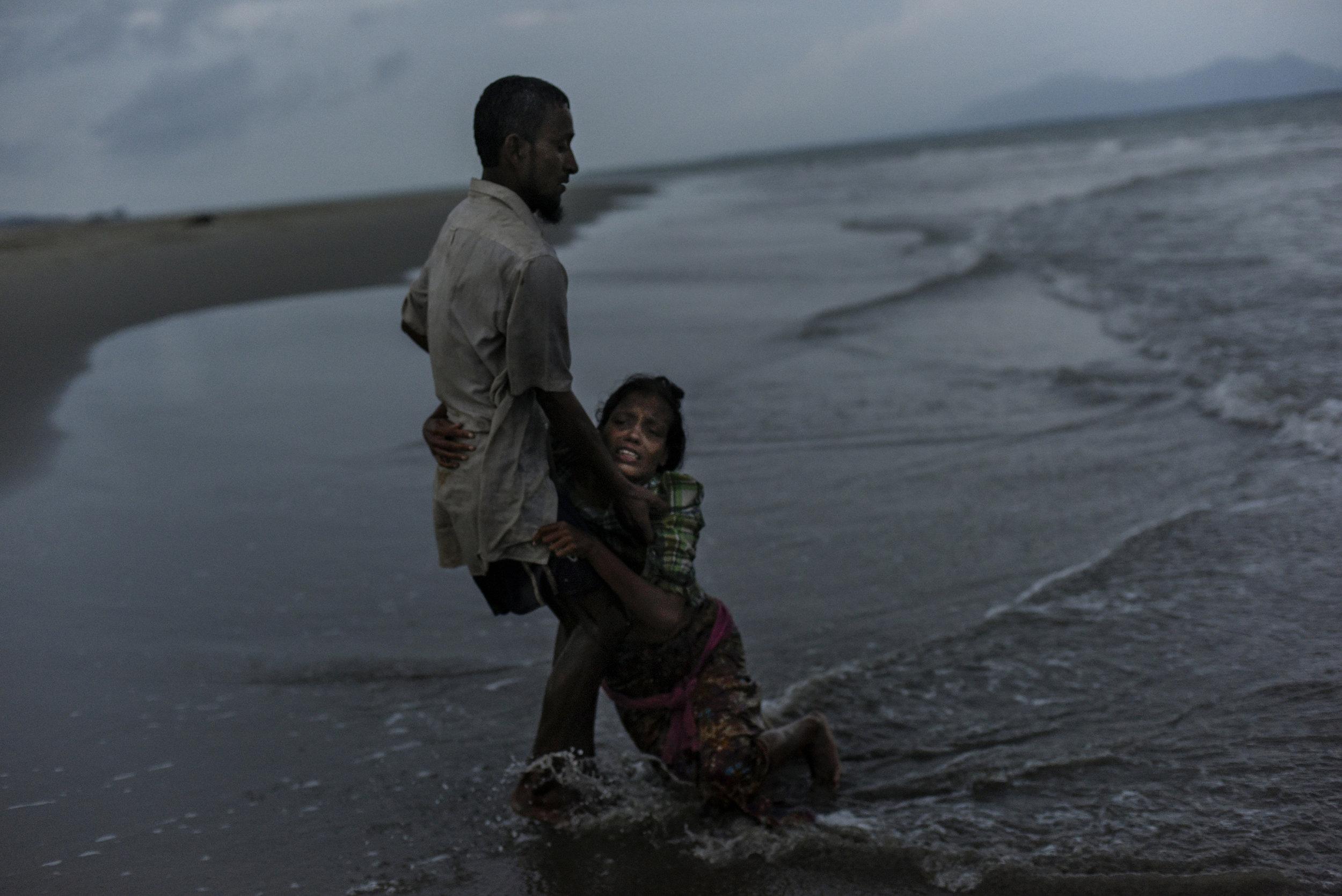 Shajida Khatun, a Rohingya refugee arrived in Shahporir Island by boat from Myanmar.