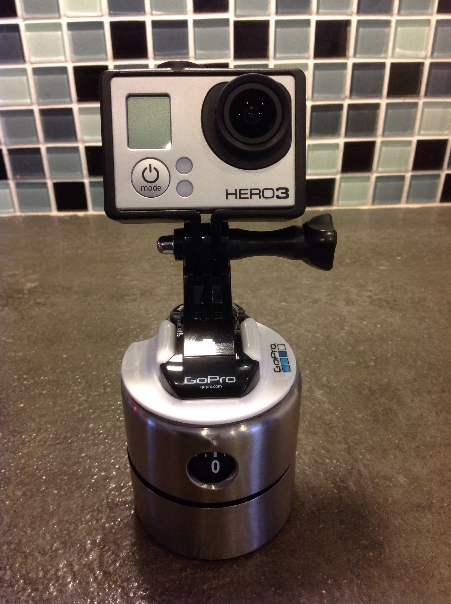 Here is a fun little mount for GoPro that will make your time-lapses better!