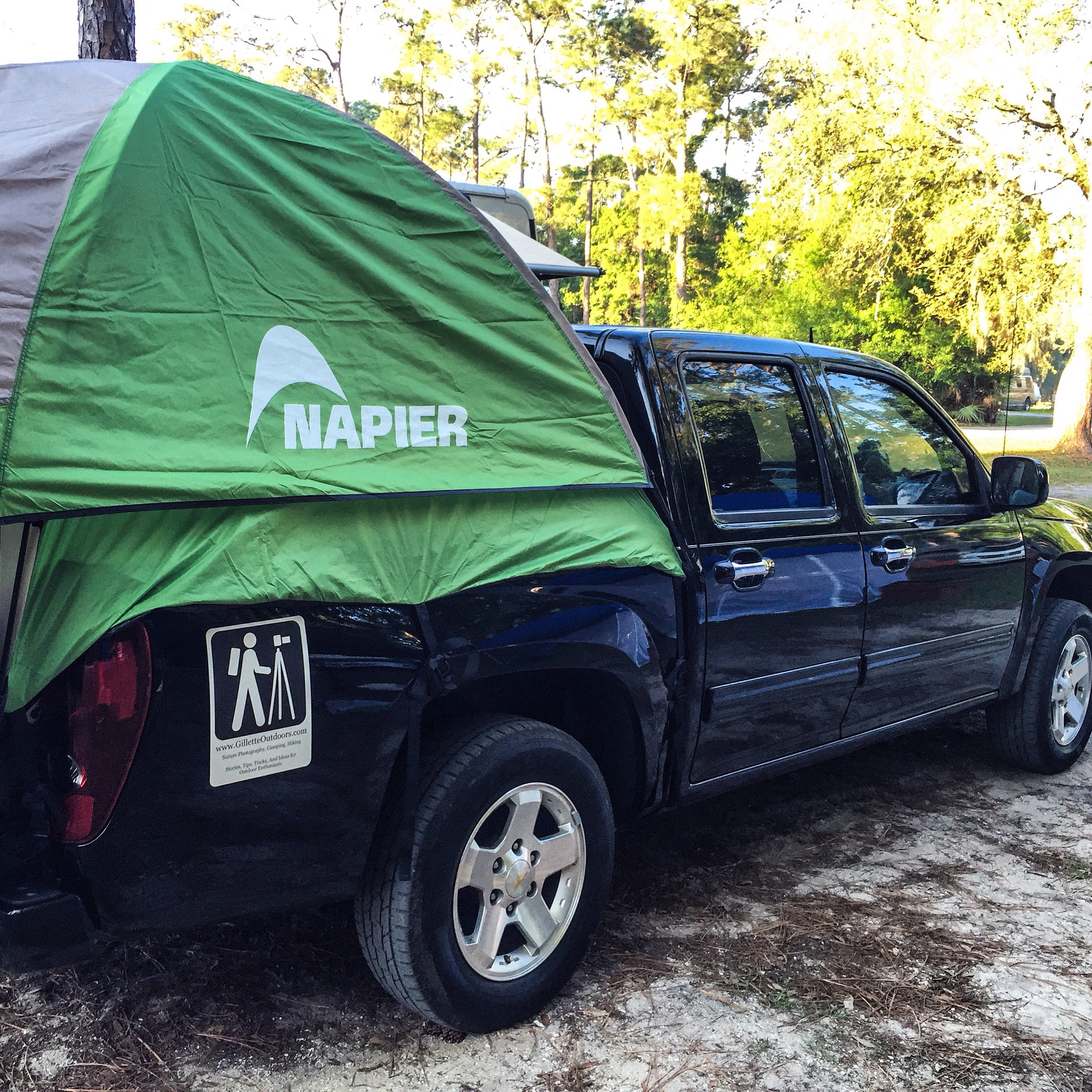 Napier truck tent with fly.