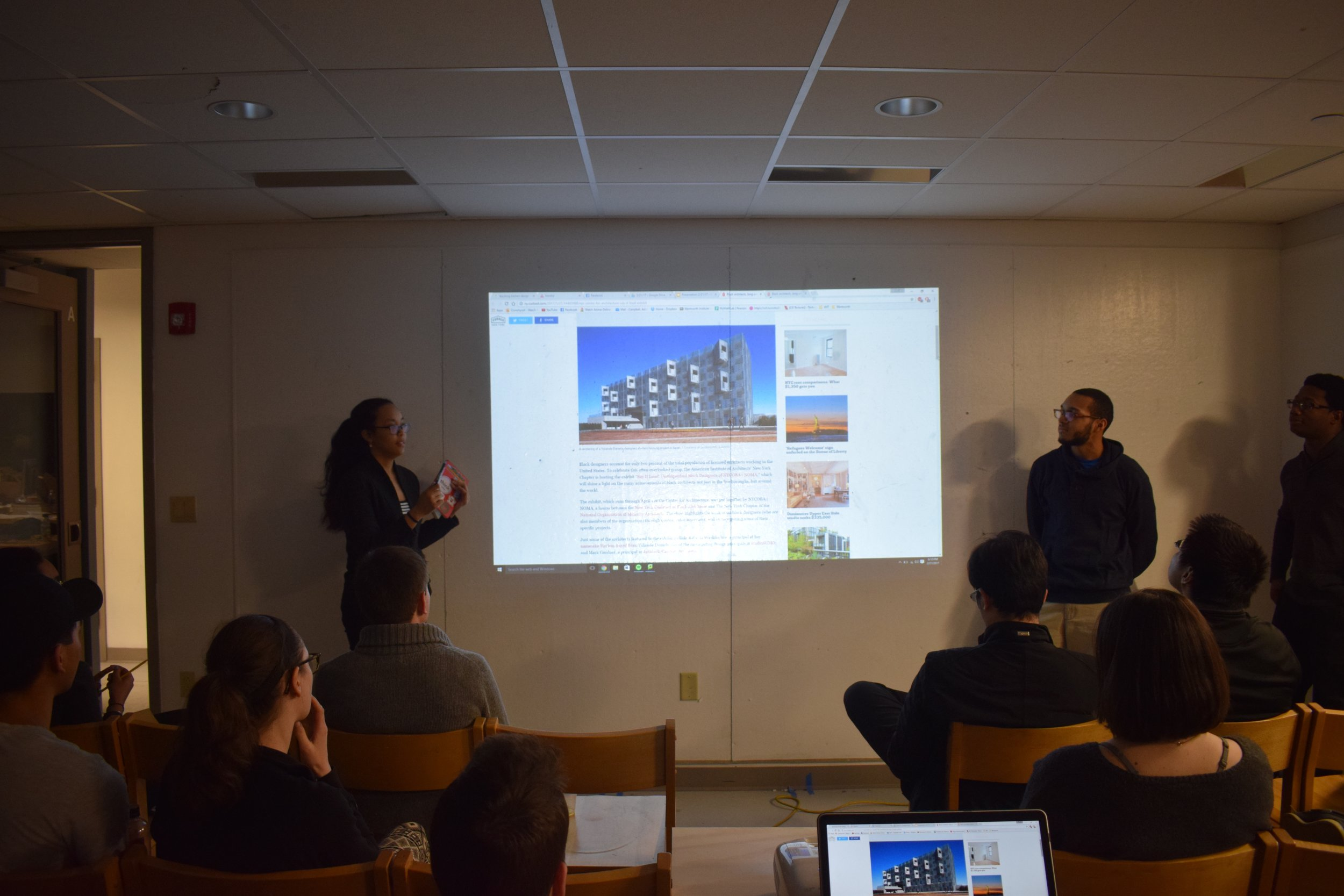 NOMAS Historian, Sachia Chin Loy Presenting a flash lecture on African-American Architects for Black History Month