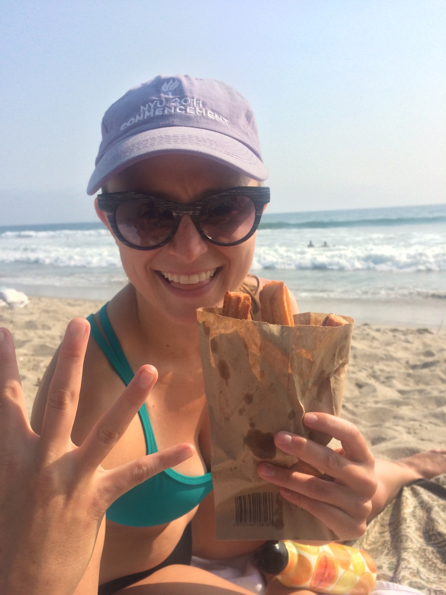 This is me eating churros in a bikini. And I don't give a FUCK.