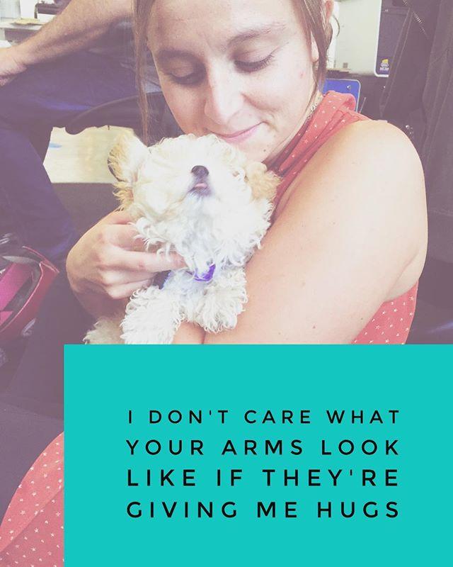 #hugs from the somebody you love are worth a lot #teddybeardog #teddybear #puppy #puppylove #bodypositive #bodylove #snuggles #thesnuggleisreal #bodyliberation #losehatenotweight #poodle #poodlesofinstagram #dogs #dogsofinstgram #mondaymotivation