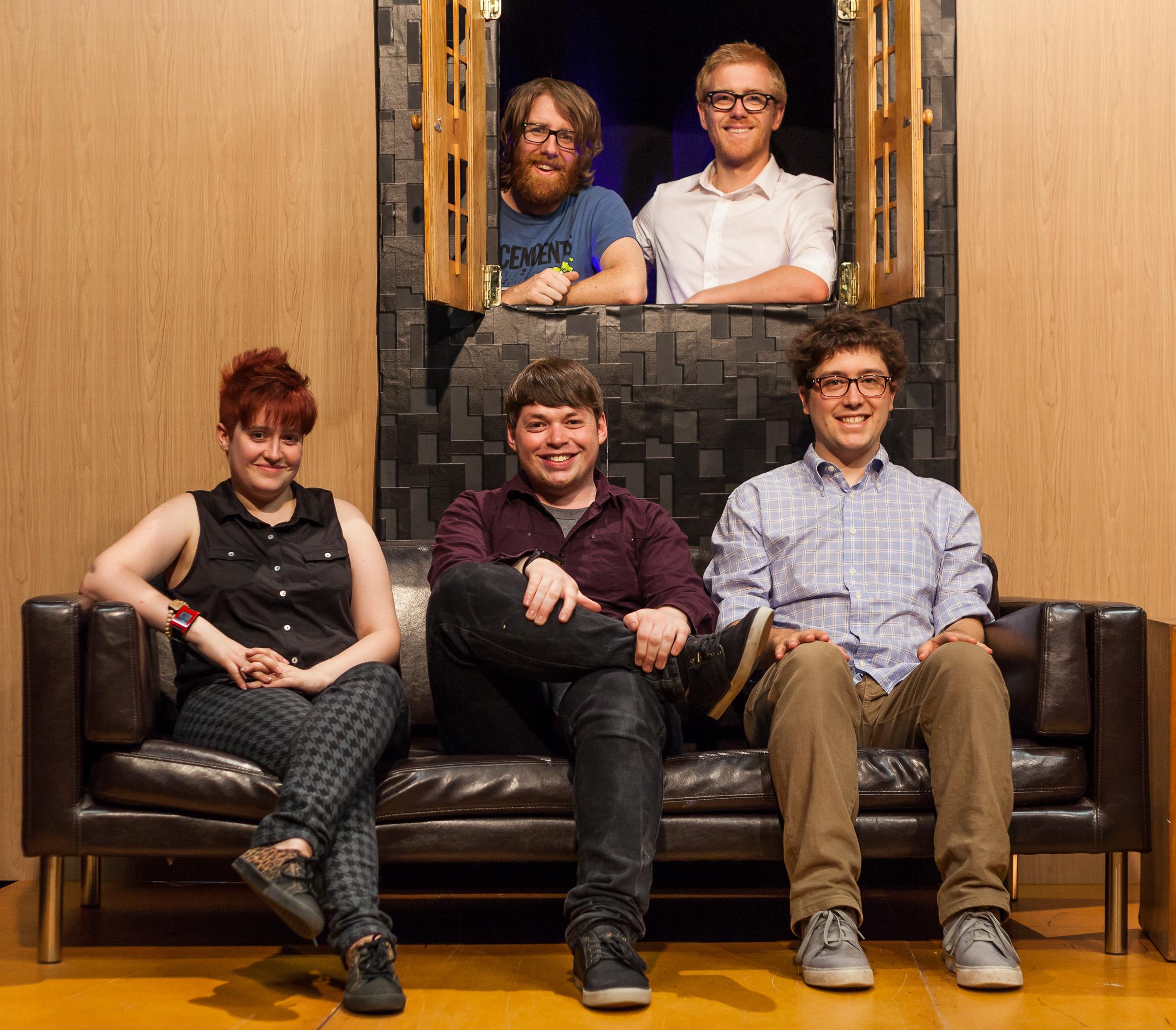 Matt Stewart, Andy Matthews, Bec Petraitis, Evan Munro-Smith & Alasdair Tremblay-Birchall (Left to right, top to bottom)