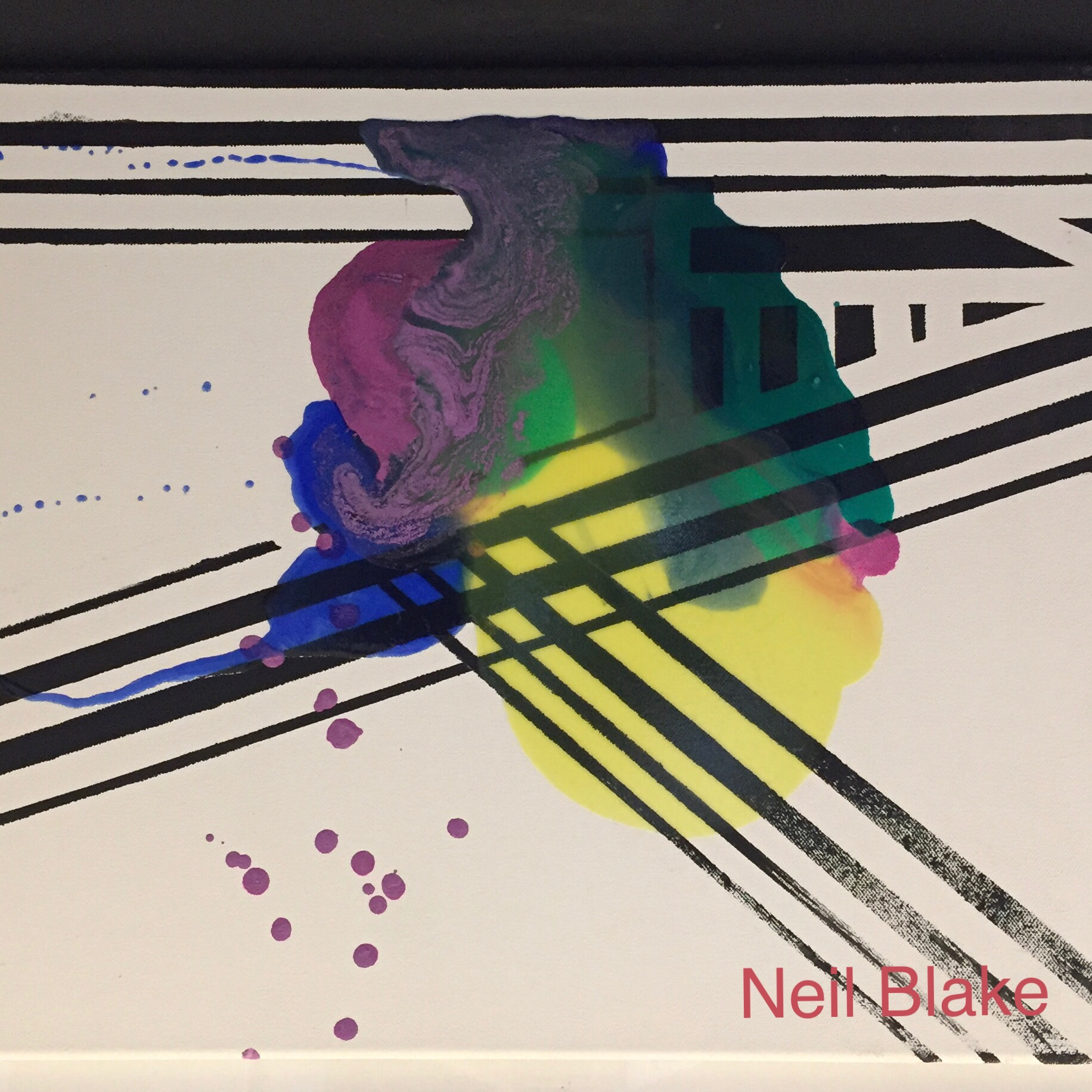 """Juxtaposed"" Acrylic + Medium on canvas 18"" x 24"""