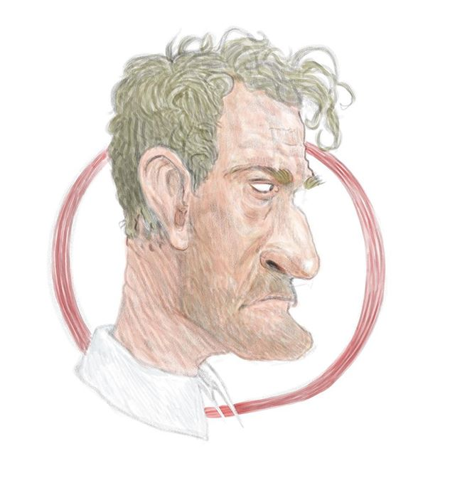 Just a Big Ed sketch while waiting on renders #twinpeaks #portrait #sketch #pencil #digitalart #doodle