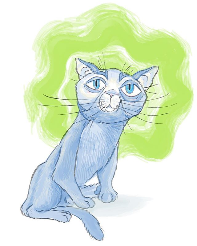 #calm #blue #cat #catsofinstagram #cats #catsofworld #drawing #doodle #cartoon #painting #sketch #sketchbook