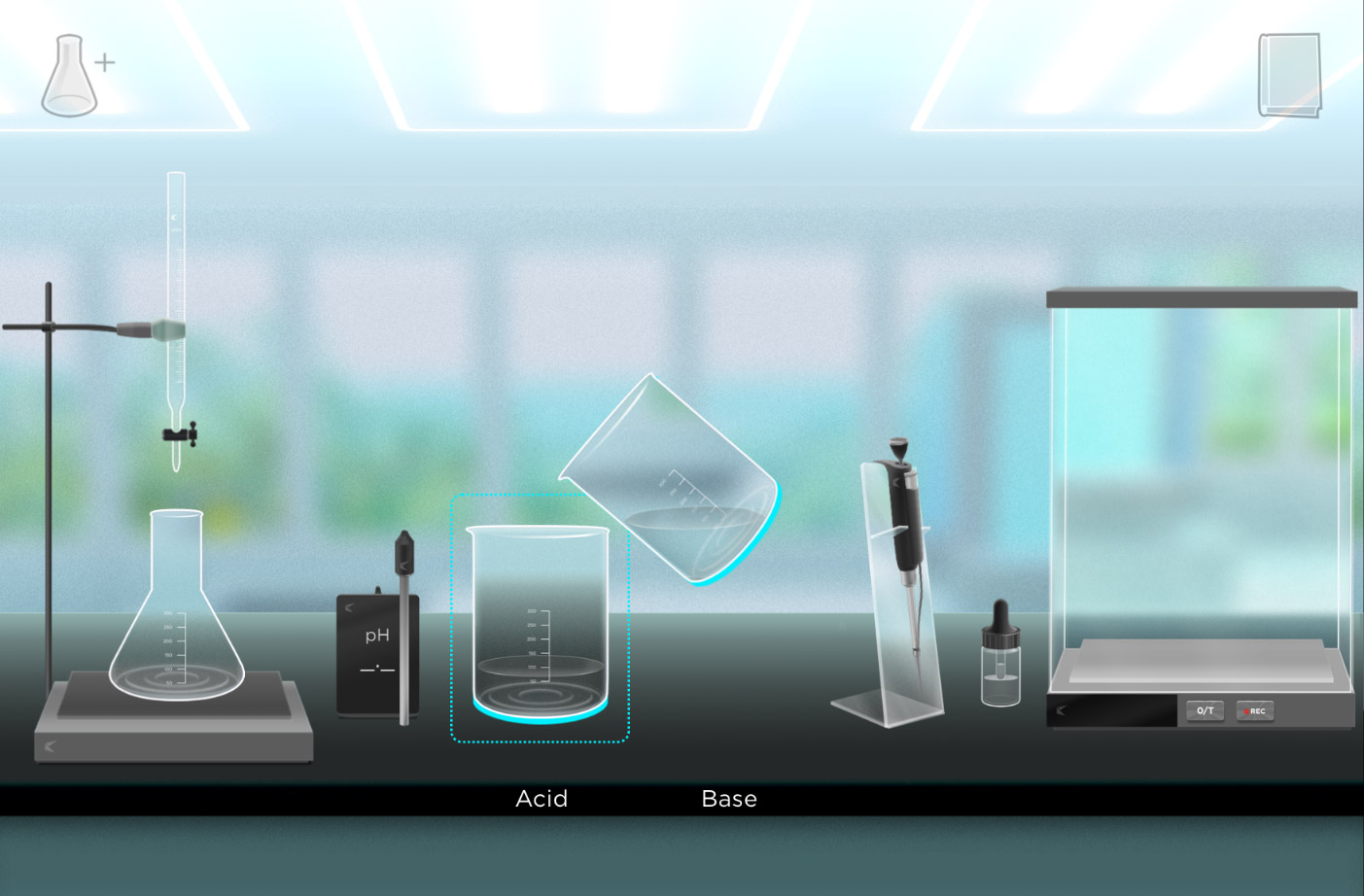 Despite a clean style, we had to solve the issue of the glassware interacting with the background inconsistently.