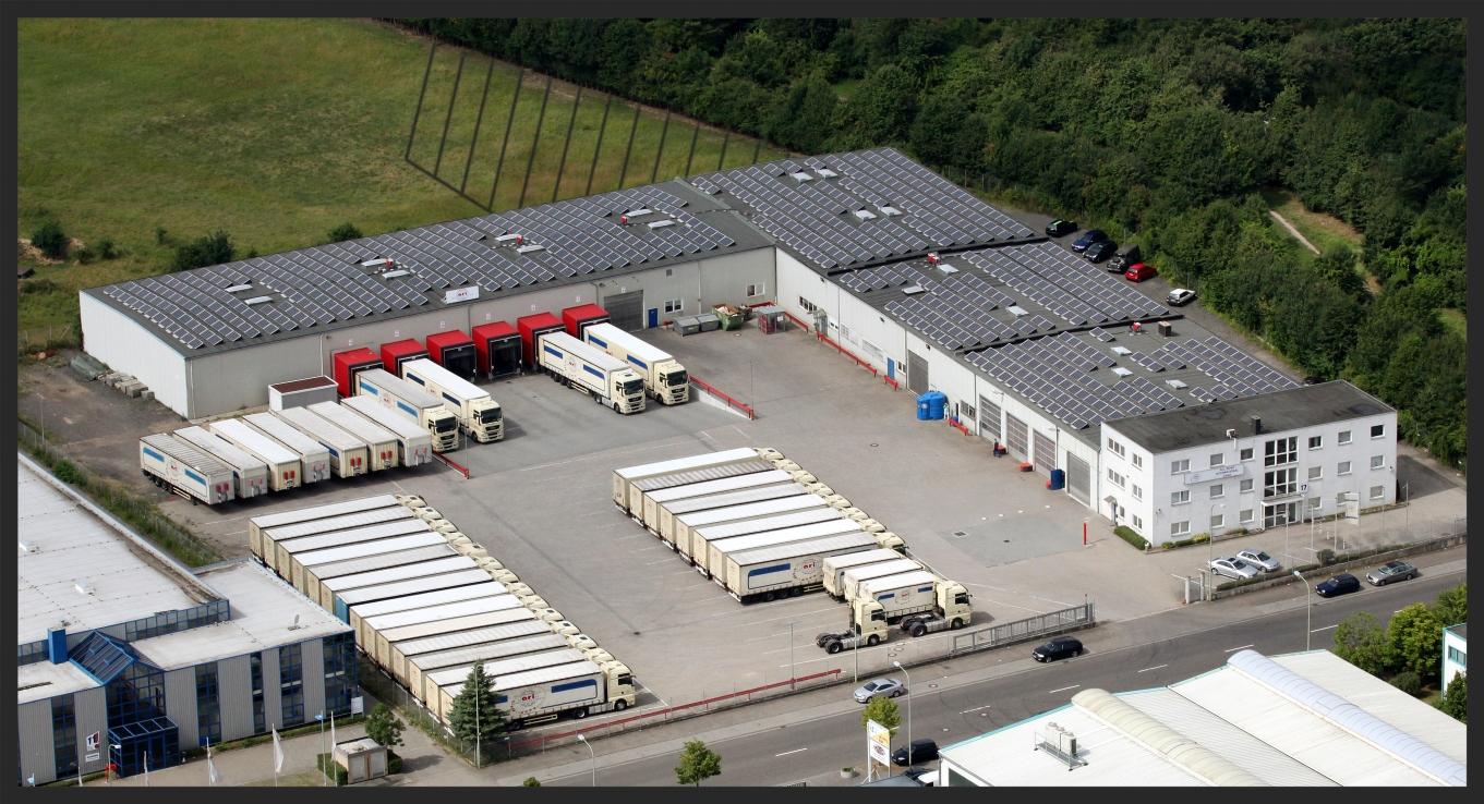 Unser Betriebsgelände in Düren Schraffiert: geplanter Ausbau