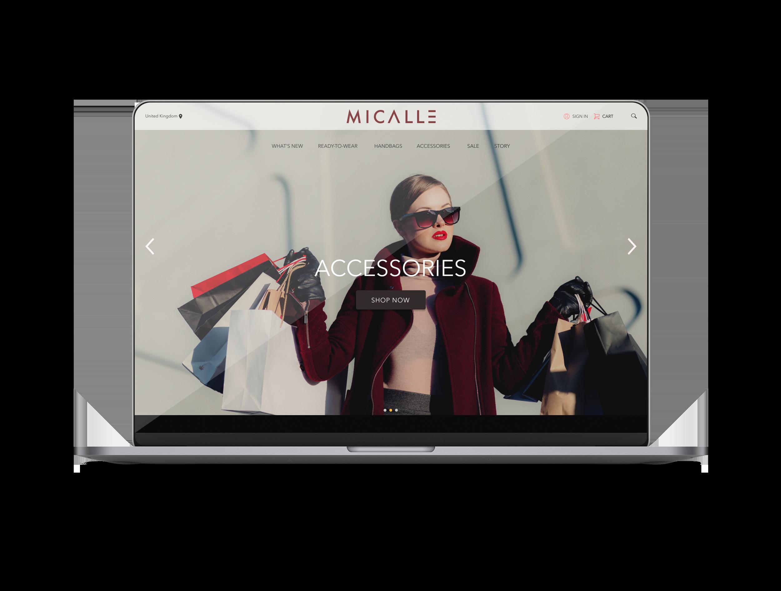 Micalle/Muun Shop - Landing Page