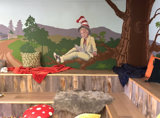 The Ellen Show approached New Life Painting to support  Mary Buren Elementary school in Guadalupe by providing painting services for the school's library.