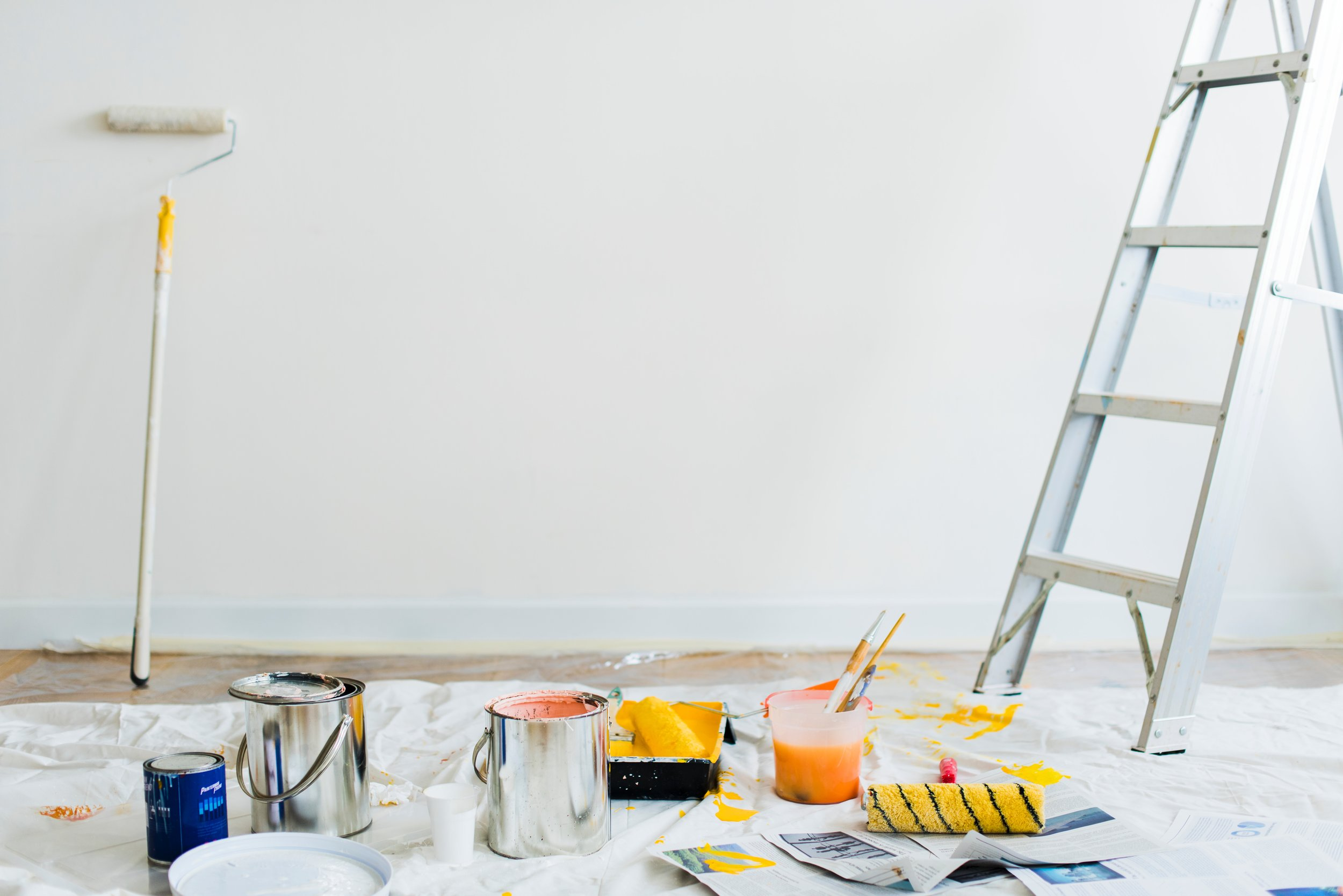 how to stay pen when having your business painted