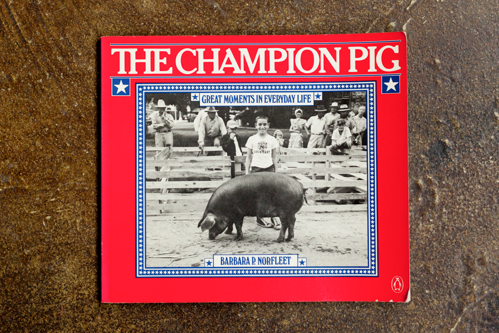 The Champion Pig: Great Moments in Everyday Life  Barbara R. Norlfeet $40.00