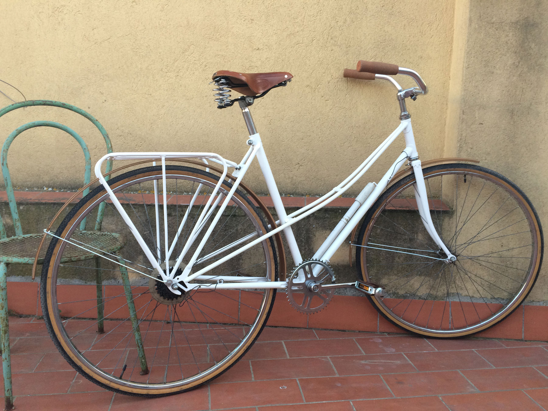 Upcycled bicycle.  With Cutero Bikes. More soon...