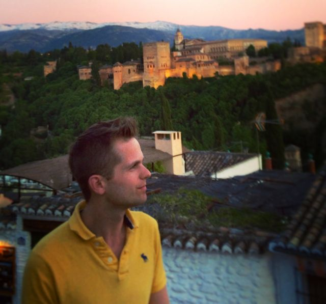 Sunset overlooking the Alhambra in Granada - one of the most beautiful spots in the world!