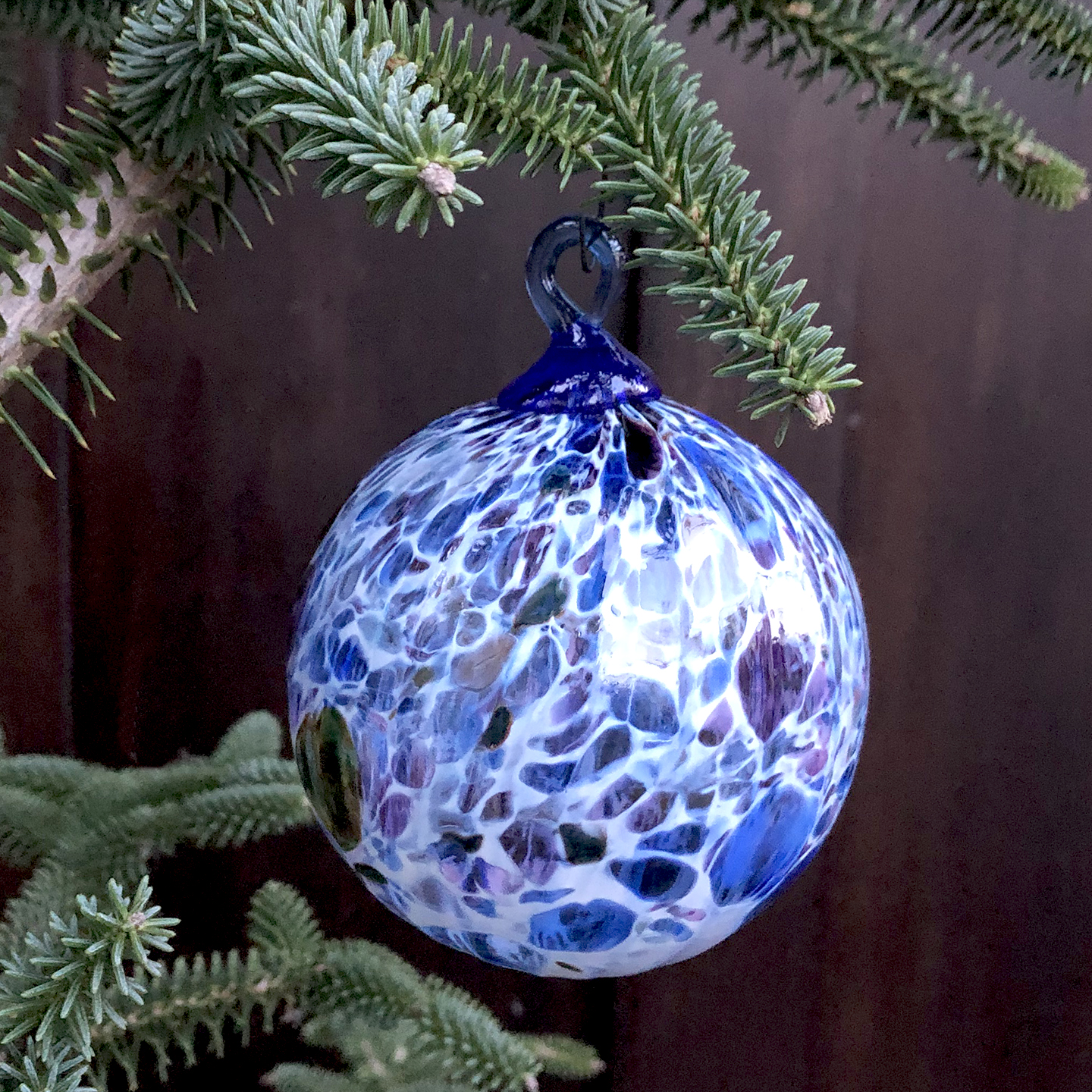 - We only made 200 to mark the 2018 Holiday season.Hand blown fine art glass hanging ornament. Designed and made in Seattle by artist Dehanna Jones.Approximately 4