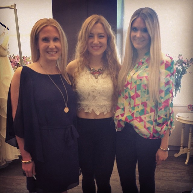 Owners, Erin & Lindsey with gown designer, Hayley Paige at NYC Bridal Market