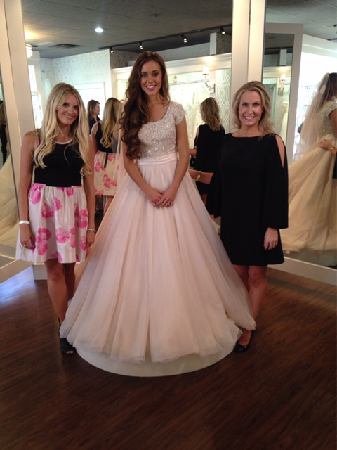 "Lindsey & Erin with Jessa right after she said ""Yes to the dress"" at Tesori."