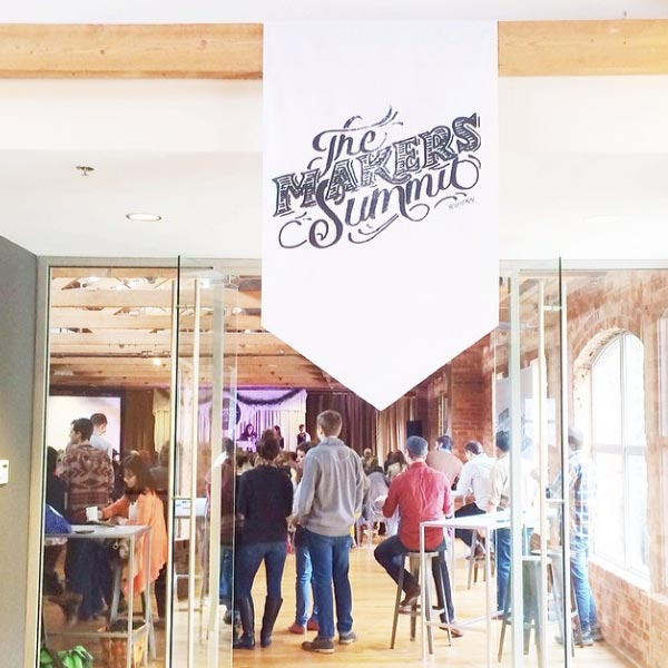 Handlettering for  The Maker's Summit , a conference for artists, craftsmen, and designers.
