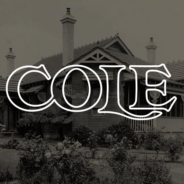 Custom type logo for  Cole Properties , a development / craftsman / real estate company.