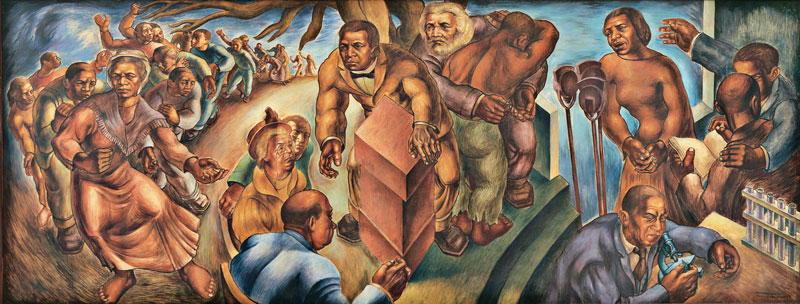 Charles White,  Five Great American Negroes , 1939. Oil on canvas, 60 × 155 inches. From the Collection of the Howard University Gallery of Art, Washington D.C. © The Charles White Archives. Photo: Gregory R. Staley.