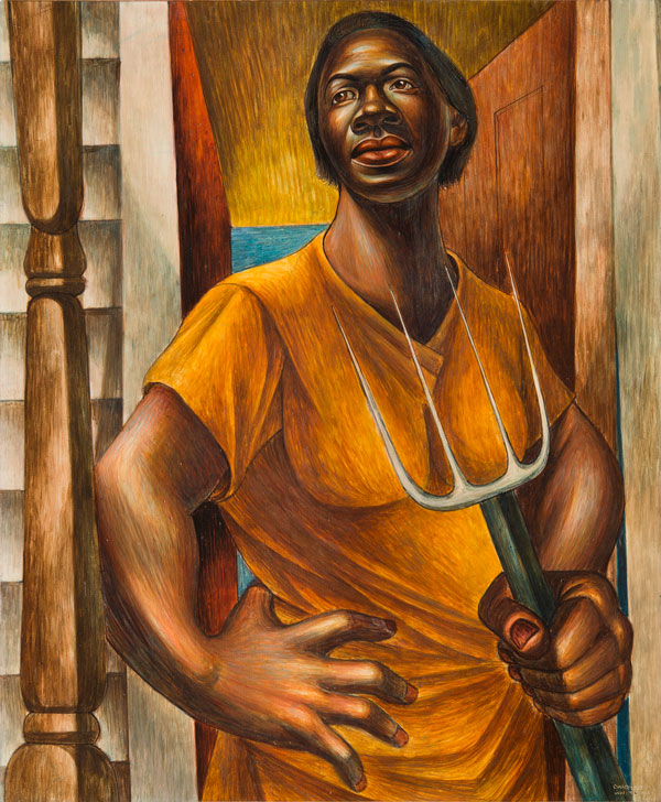 Charles White,  Our Land , 1951. Egg tempera on panel, 24 × 20 inches. Private Collection. © The Charles White Archives. Photo: Gavin Ashworth. Courtesy Jonathan Boos.