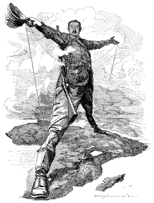 Cecil Rhodes spanning a continent