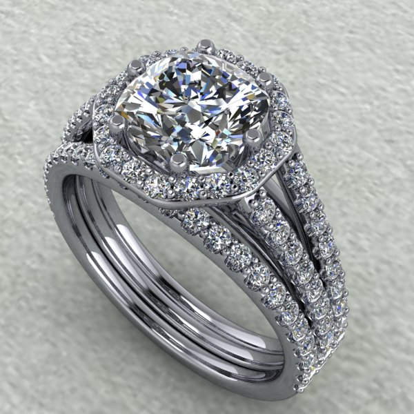 1 carat cushion diamond ring