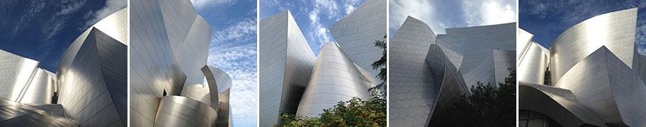 Exterior views of the Walt Disney Concert Hall