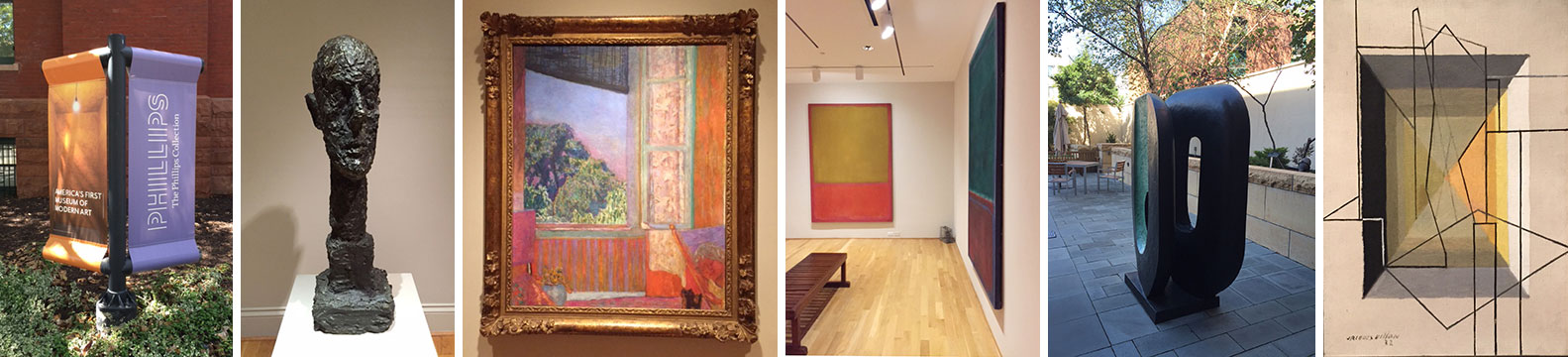 A few of the many amazing works that delighted me on my visit to The Phillips Collection.