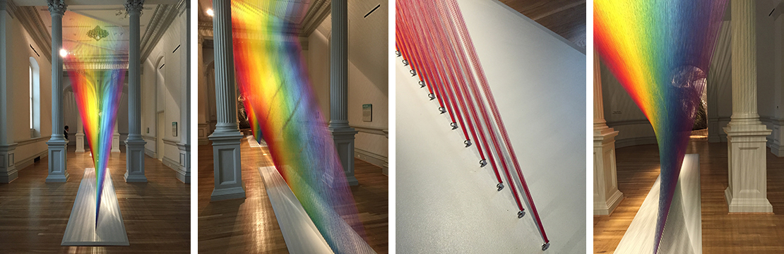"""Plexus, A1"" by Gabriel Dawe is made of thread and is completely spellbinding."