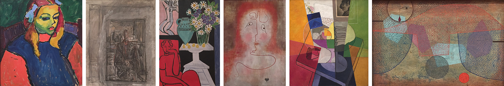 Some of the spectacular pieces we enjoyed in the contemporary collection at The Art Institute of Chicago (by Jawlensky, Giacometti, Matisse, Klee, Severini, and Klee)