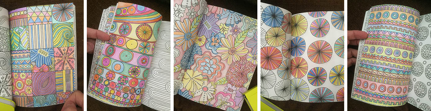 I received a lovely small coloring book as a gift and discovered that this is a special way to be creative that I had not appreciated before. Watching the pages come alive with color has been a delight.